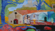 peinture Hildegard Michaelis Chapelle saint Germain